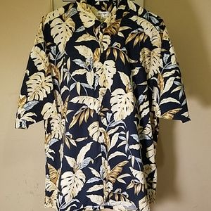Pierre Cardin XXL Hawaiian Camp Shirt 100% Cotton